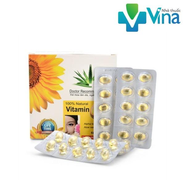 Vitamin E400 Kèm Tinh Chất Nha Đam - Giúp sáng đẹp da Hộp 100 viên