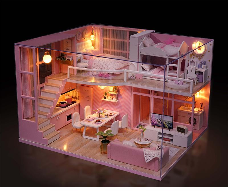 Nhà Búp Bê DIY - Dream Angels L026 (Tặng Mica Che Bụi + Keo Sữa) Siêu Khuyến Mại