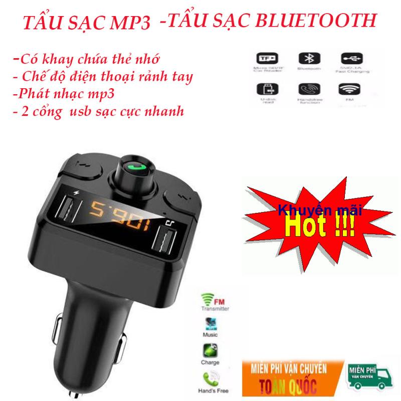 Tẩu Sạc Ô Tô Thông Minh -Kết Nối Bluetooth, Sạc Pin Nhanh Nghe Điện Thoại Rảnh Tay, sang trọng nhỏ gọn - Mua ngay số lượng có hạn. BH 3 Tháng - Lỗi 1 đổi 1trong 7 ngày đầu