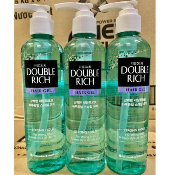 GEL tạo kiểu và giữ nếp tóc mạnh Double Rich 250 ml (mầu xanh)