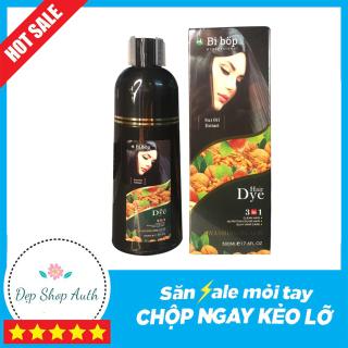 Dầu Gội Phủ Bạc Đen Tóc BiBop Collagen Nhật Bản (500ml) - An toàn, không xơ tóc (Chai Đen MẪU MỚI NHẤT 2021) thumbnail