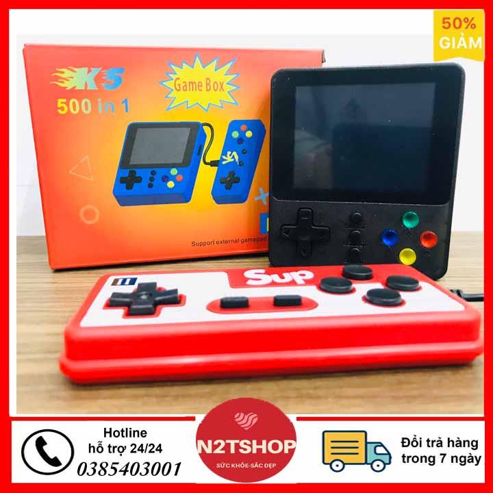 Máy chơi game cầm tay mini sup 500 in 1 nhiều hơn sup 400 - Tặng tay cầm chơi game kết nối tivi TV - máy chơi game cầm tay Sup 2 người chơi 500 trò chơi ( nhiều màu )
