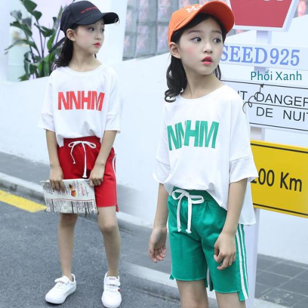 Giá bán Đồ bộ bé gái - quần áo trẻ em vải thun mát size từ 5 đến 14 tuổi 0114