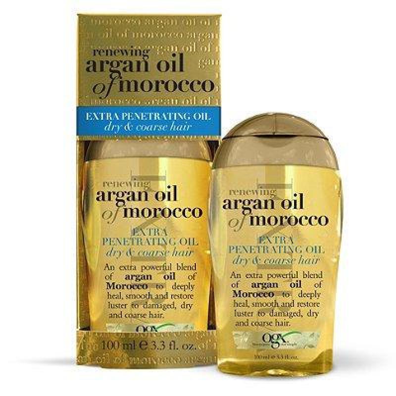 Dầu Dưỡng Tóc Dành Cho Tóc Khô OGX Argan Oil Morocco Extra Penetrating Oil Dry & Coarse Hair 100ml nhập khẩu