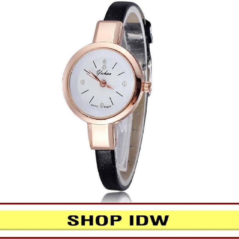 [Có video quay thật] Đồng hồ nữ dây da thời trang YH IDW 6721 (Nhiều màu lựa chọn)