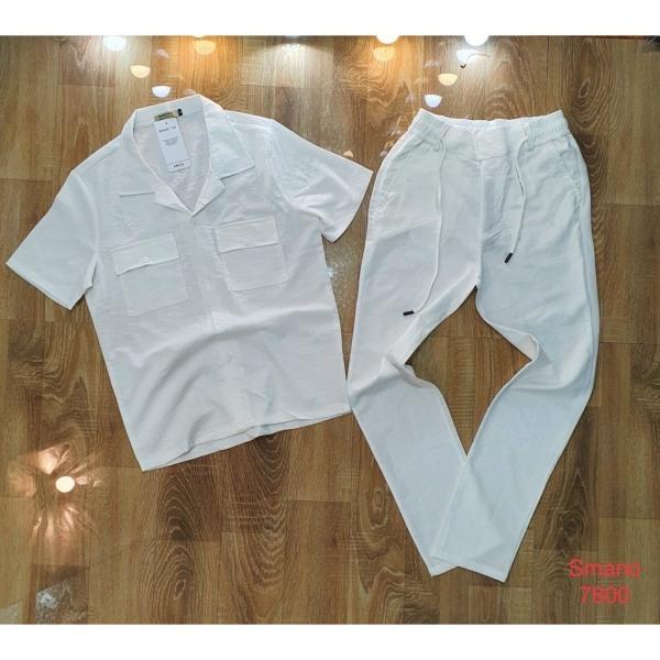 Nơi bán Bộ Đũi Nam, Vải Đũi Cao Cấp, Chất Liệu Đũi Xước, Quần Áo Đũi Nam Cổ Bẻ  - Đũi 02 -Bum Fashion