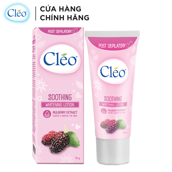Sữa dưỡng dịu da sau tẩy lông Cléo - giúp trắng da 50g