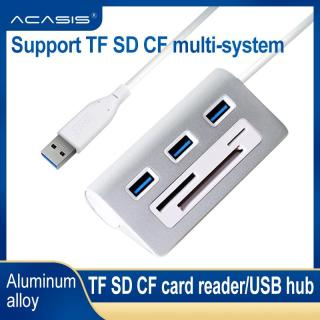 Acasis USB 3.0 HUB, Đầu Đọc Thẻ 3.0 Nhôm Tốc Độ Cao Đầu Đọc Thẻ TF SD CF Giao Diện Điện Máy Tính iMac Cho Macbook thumbnail