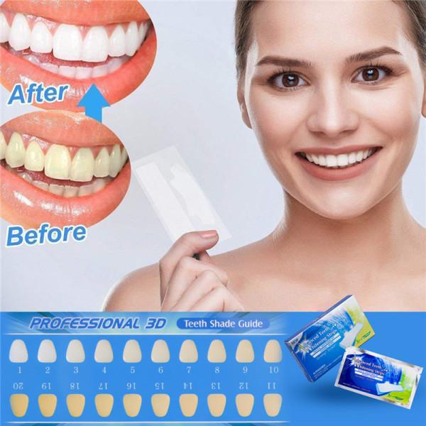 CkeyiN 14 Gói- 28 Miếng dán trắng răng an toàn làm trắng răng khử mùi nhanh chóng hiệu quả chỉ cần 30 phút tại nhà DC019