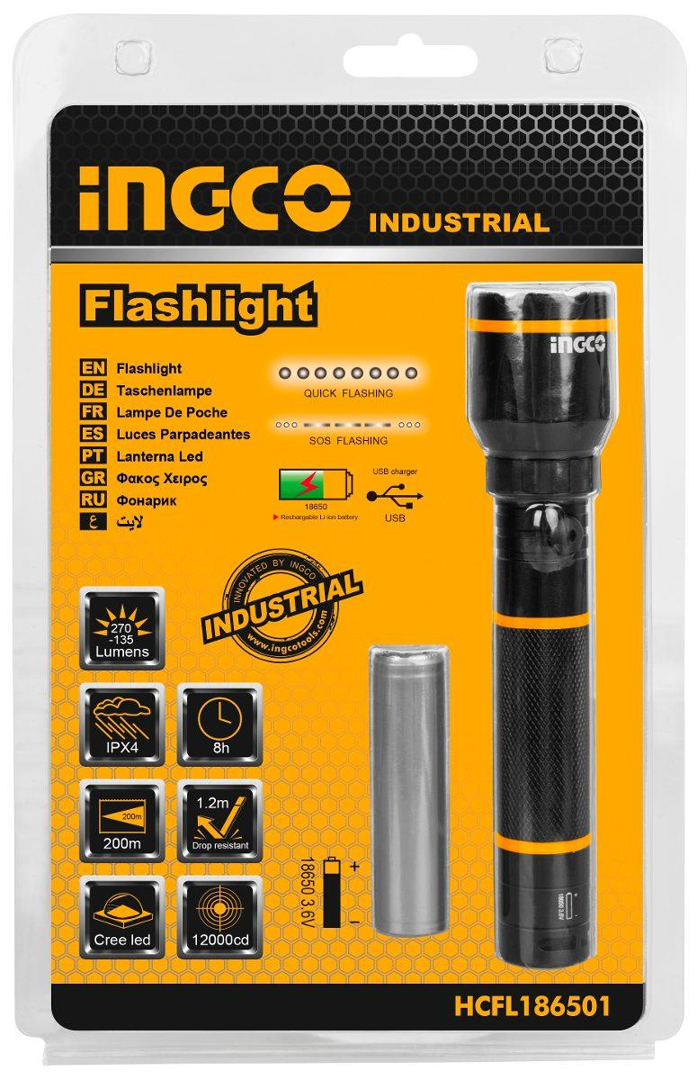 Đèn pin sạc cầm tay INGCO HCFL186501