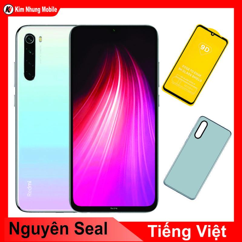 Combo Điện Thoại Xiaomi Redmi Note 8 64GB Ram 6Gb Kim Nhung + Cường Lực Full Màn Hình  + Ốp Lưng - Hàng Nhập Khẩu