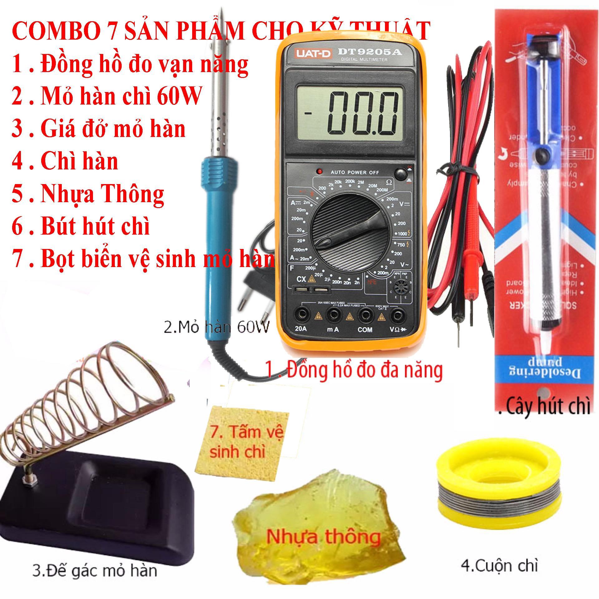 Đồng hồ đo vạn năng Digital UAT-D DT9205A và 6 món kỹ thuật hàn