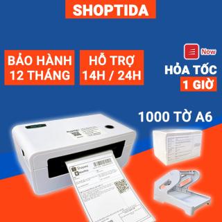 Máy in nhiệt Shoptida SP46 kèm 1000 giấy in nhiệt 10 15cm + khay, combo máy in nhiệt tự dán bảo hành 12 tháng thumbnail