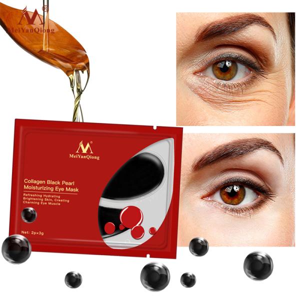 Gói mặt nạ mắt MeiYanQiong collagen ngọc trai đen loại bỏ quầng thâm chống nếp nhăn/lão hoá - INTL giá rẻ