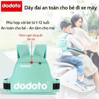Đai đi xe máy cho bé từ 1-12 tuổi dodoto, địu ngồi xe máy cho bé chống ngã, đai ngồi xe máy đeo vai, thắt lưng, đai ngực thumbnail