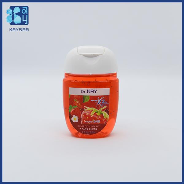 Giới thiệu Gel rửa tay kháng khuẩn Dr.Kay (29ml) Gel không gây khô da, đồng thời dưỡng ẩm da tay, Loại bỏ 99,9% vi khuẩn