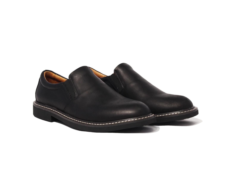 Giày tây cao cấp chính hãng BANULI, kiểu giày lười retro B1SL1M0 da bò Veg - Tan Ý, đế cao su tự nhiên