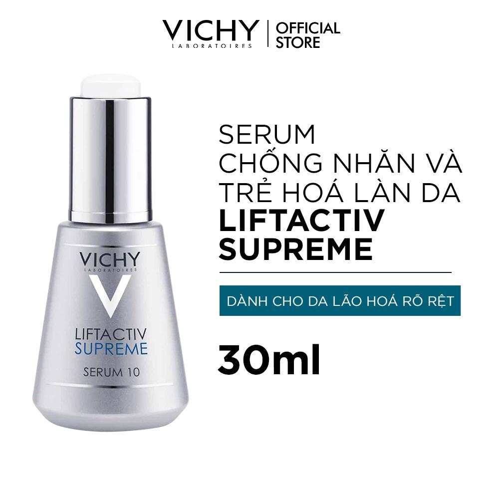 Dưỡng chất (Serum) dưỡng da giúp ngăn ngừa 10 dấu hiệu lão hóa & làm săn chắc làn da Vichy LiftActiv 30ML
