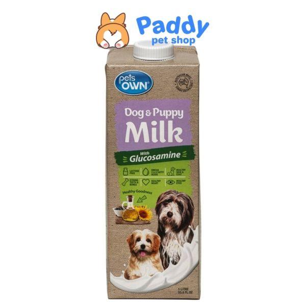 [1L] Sữa Tươi Pets Own Bổ Sung Glucosamine Chó Mọi Độ Tuổi (Nhập khẩu Úc)