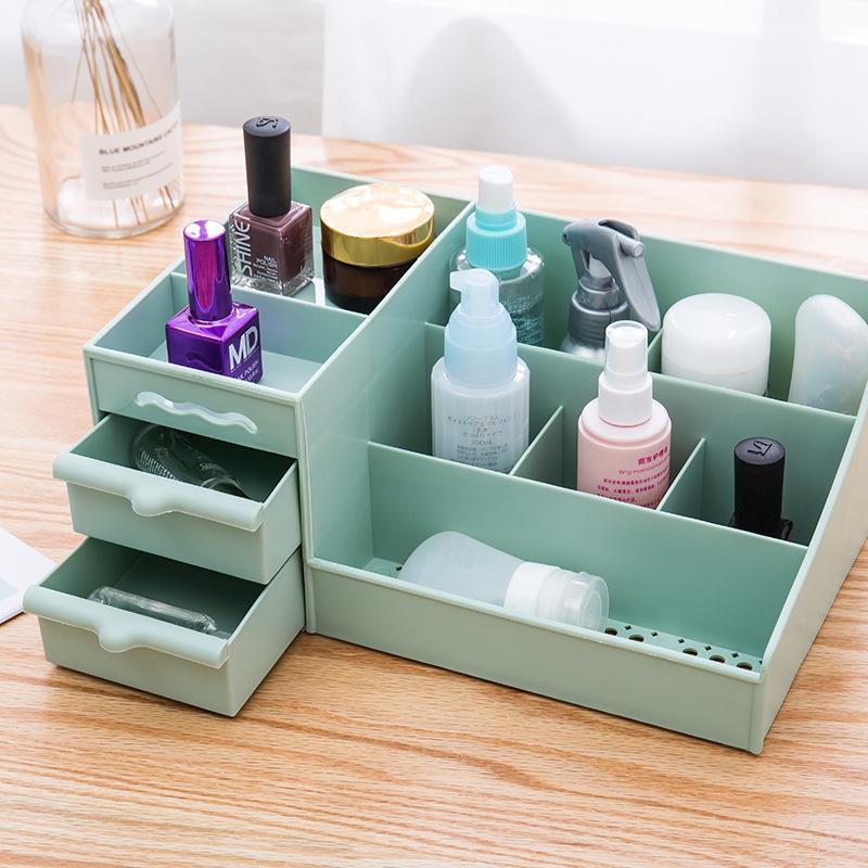 Kệ nhựa đựng mỹ phẩm có 2 ngăn kéo (3 màu) cao cấp