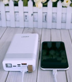 Sạc dự phòng 30000mAh pin rẻ hàng JUYUPU PR-6C Power Bank dành cho iPhone Samsung OPPO VIVO HUAWEI XIAOMI cục sạc dự phòng thumbnail