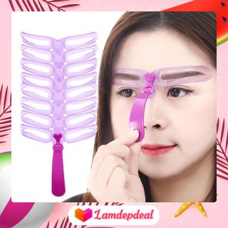 Lamdepdeal - Combo 8 khung kẻ chân mày Magic Lady - Khuôn kẻ chân mày đẹp, lông mày ngang, cách vẽ lông mày đẹp - Dụng cụ trang điểm thumbnail