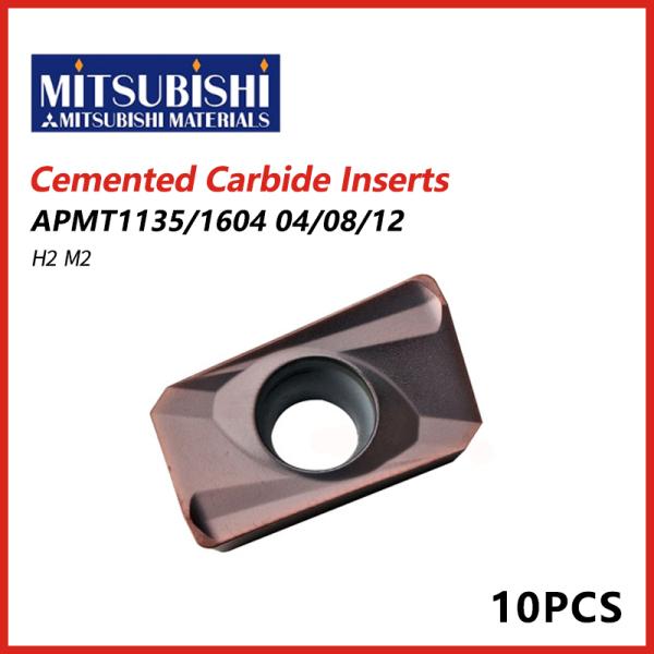 Mitsubishi Cemented Carbide Inserts APMT1604/1135 H2 M2