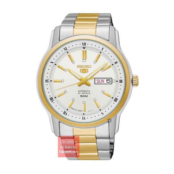 Đồng hồ nam dây thép đường kình mặt 42mm Seiko 5 SNKP14J1 Made in Japan - bảo hành 12 tháng