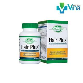 Organika Hair Plus 60 viên kích thích mọc tóc, giúp tóc chắc khỏe, chống gãy rụng, khô xơ, chẻ ngọn, hỗ trợ làm đen tóc thumbnail