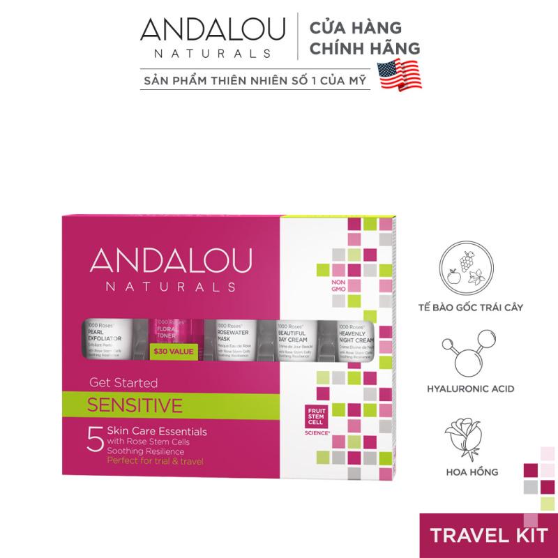 Bộ sản phẩm chăm sóc da nhạy cảm Andalou Naturals Sensitive 1000 Roses get Started Kit giá rẻ