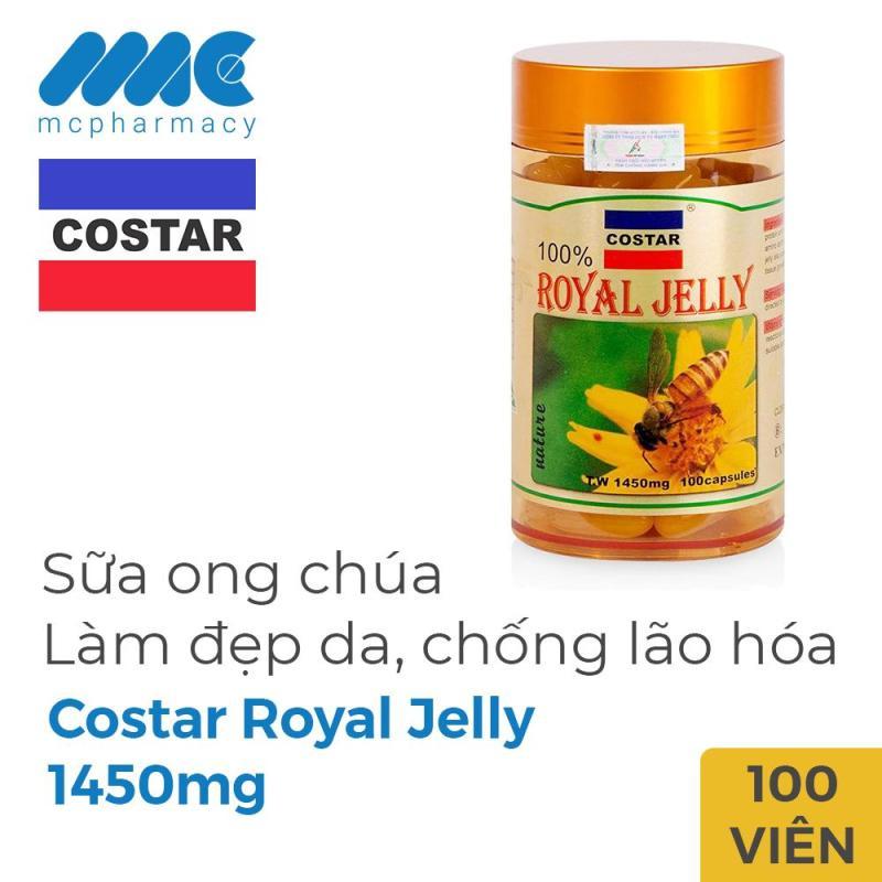 Sữa Ong Chúa Costar Royal Jelly 1450mg, Chai 100 Viên cao cấp