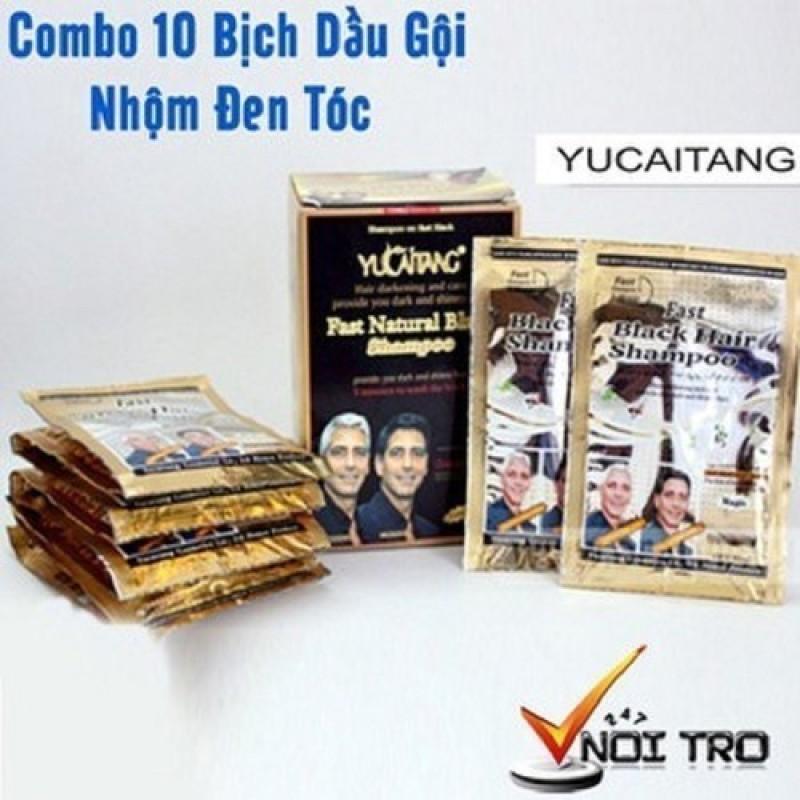COMBO 10 gói Dầu Gội Nhuộm Tóc Đen nhập khẩu