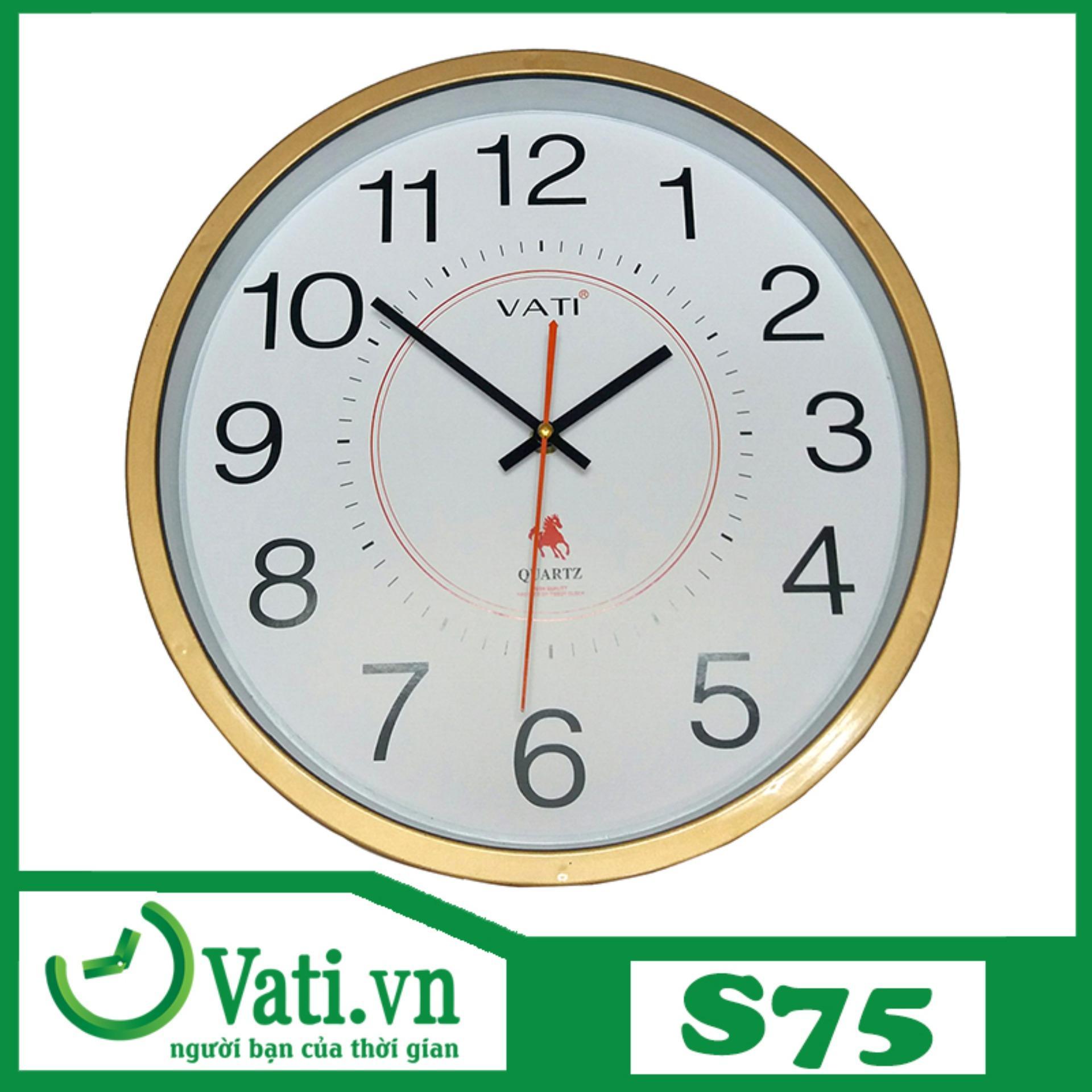 Đồng hồ treo tường hình tròn S75 bán chạy