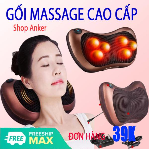 [CỰC SỐC  - GIÁ SỈ] Gối Massage Hồng Ngoại 8 Bi Kiểu Dáng Hàn Quốc, Máy Massage Hồng Ngoại Thế Hệ Mới. Mát Xa Các Cơ Huyệt, Xoa Bóp Chống Nhức Mỏi, Nhanh Chóng Giảm Căng Thẳng , Stress - Bảo Hành Toàn Quốc Trong Thời Gian 12 Tháng