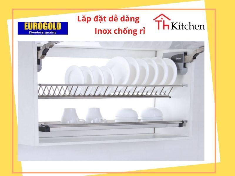 Phụ kiện tủ bếp EUROGOLD-EU01100 : GIÁ BÁT ĐĨA CHỮ V