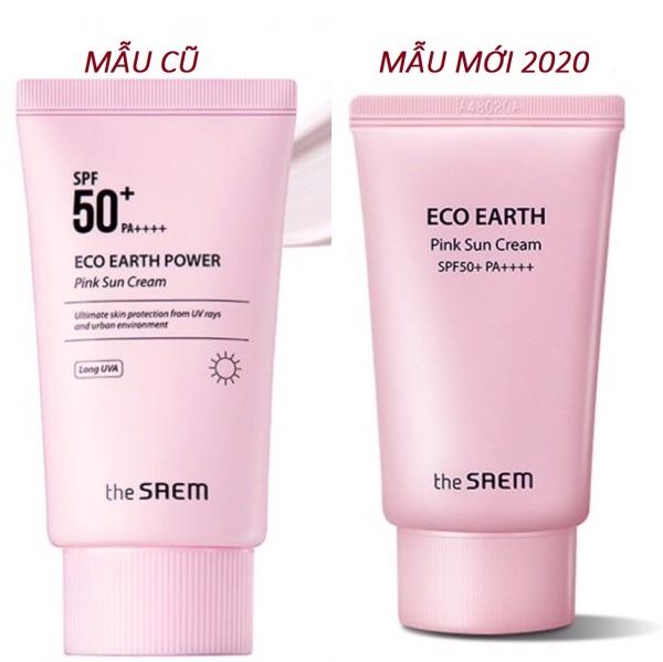 [HCM]Kem chống nắng The SAEM Eco Earth Power Sun Cream (Màu Hồng)