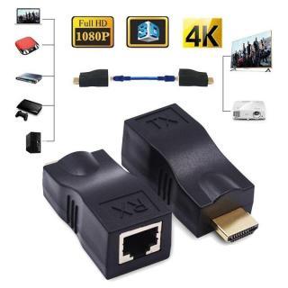 Đầu Chuyển Đổi Từ Cổng LAN Sang HDMI Chuẩn 4K Chiều Dài Hỗ Trợ Tối Đa 30m thumbnail