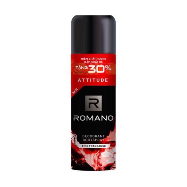 Xịt khử mùi toàn thân cho nam Romano Attitude tặng dung tích chai 195ml giá rẻ