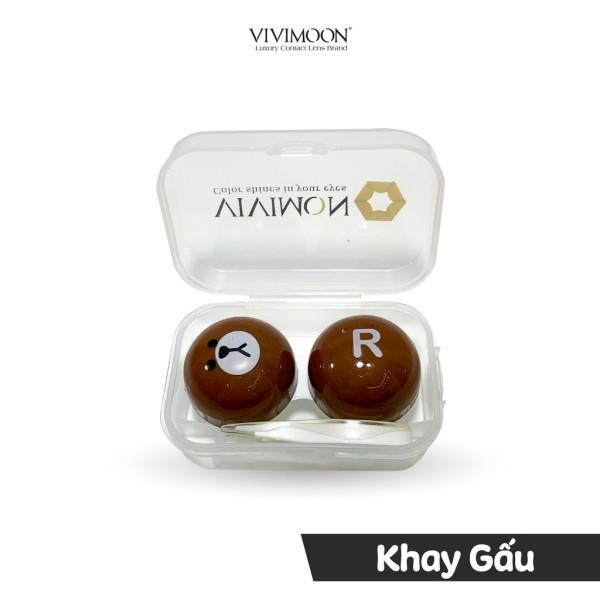 Giá bán Khay đựng kính áp tròng kèm dụng cụ đeo VIVIMOON dễ thương