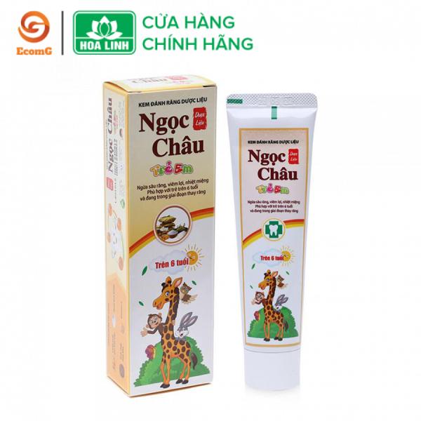 Kem đánh răng thảo dược Ngọc Châu trẻ em 70gr - NC2-01 giá rẻ