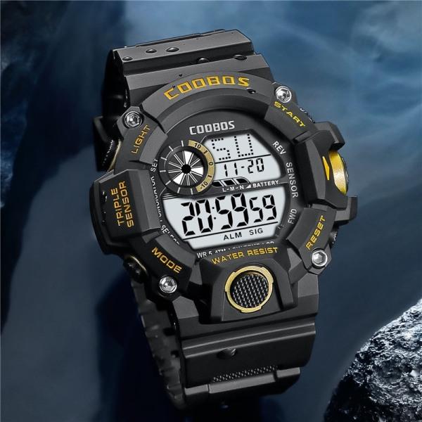 Đồng hồ trẻ em bơi 50m không thấm nước sinh viên thể thao điện tử đồng hồ chống nước LED dạ quang 0819 bán chạy