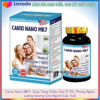 Canxi Nano MK7- Giúp Tăng Chiều Cao Ở Trẻ, Phòng Ngừa Loãng Xương Cho Người Cao Tuổi -Hộp 30 viên - Canxi Nano MK7 thumbnail