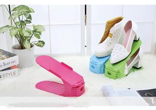 Combo 10 đế để giày dép thông minh giá rẻ (Màu ngẫu nhiên) Giá để giày dép thông minh tiết kiệm diện tích, gọn gàng nhà cửa thumbnail