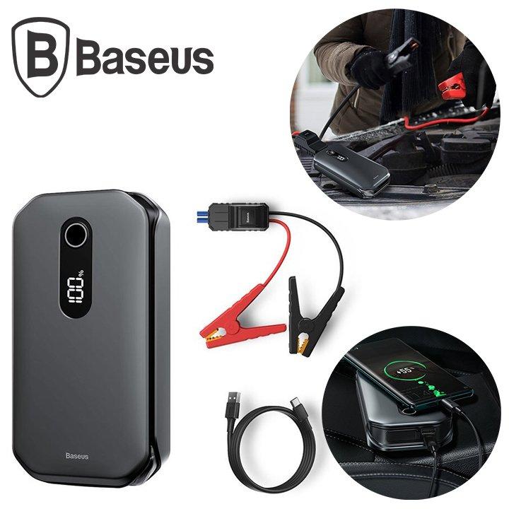 Bộ kích nổ xe ô tô, kiêm sạc dự phòng nhãn hiệu Baseus CRJS03-01 dung lượng pin 12000mAh