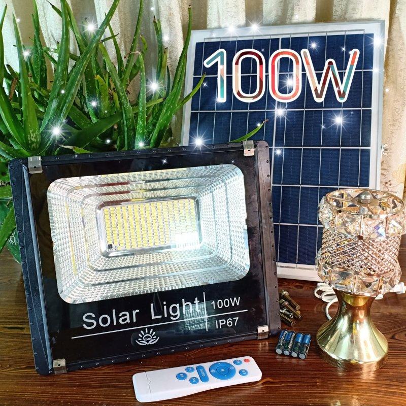 100W ĐÈN PHA LED NĂNG LƯỢNG MẶT TRỜI  , Solar Light , IP67 chống nước