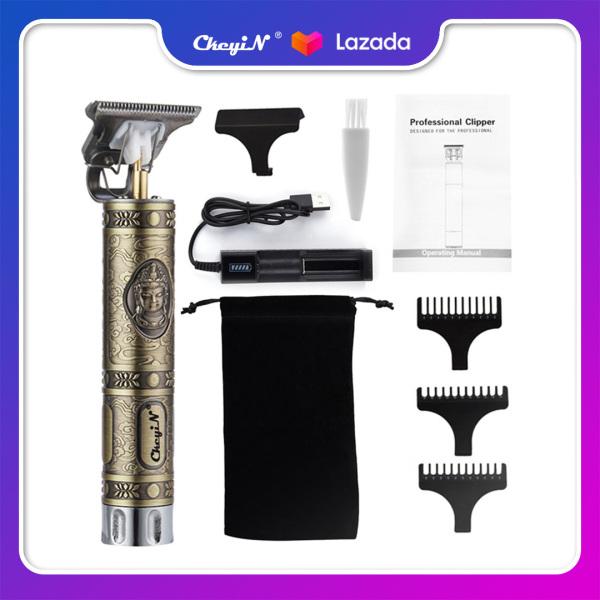 CkeyiN Tông đơ cắt tóc điện không dây cắt êm cho người lớn và trẻ con, dễ làm vệ sinh RC614 cao cấp