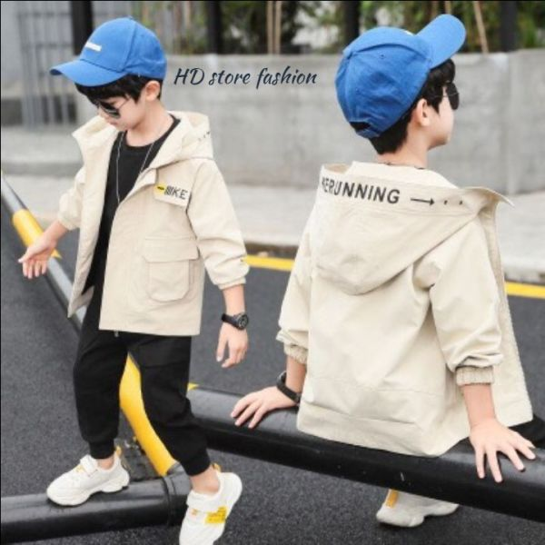 áo khoác bé trai , áo khoác túi hộp cho bé H0052