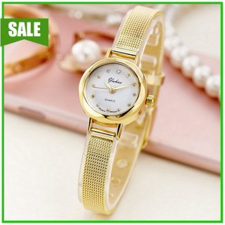 Đồng hồ nữ sang trọng thời trang màu vàng hồng sáng loáng thumbnail