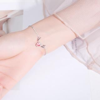 Vòng tay nữ, vòng tay bạc nữ, vong tay nu hươu sao lấp lánh chống rỉ XBL35 thumbnail