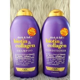 Dầu Gội Xả Biotin Collagen [Hàng Chính Hãng] Chống Rụng Tóc Và Kích Thích Mọc Tóc Nhanh, Hương Thơm Dịu, 577ml thumbnail